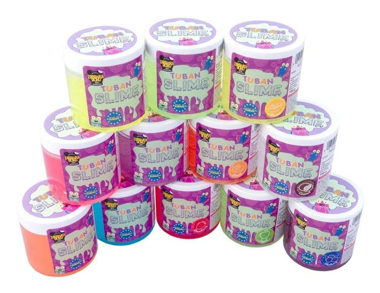 SUPER SLIME TUBAN - GLITTER NEON PURPLE 100 G